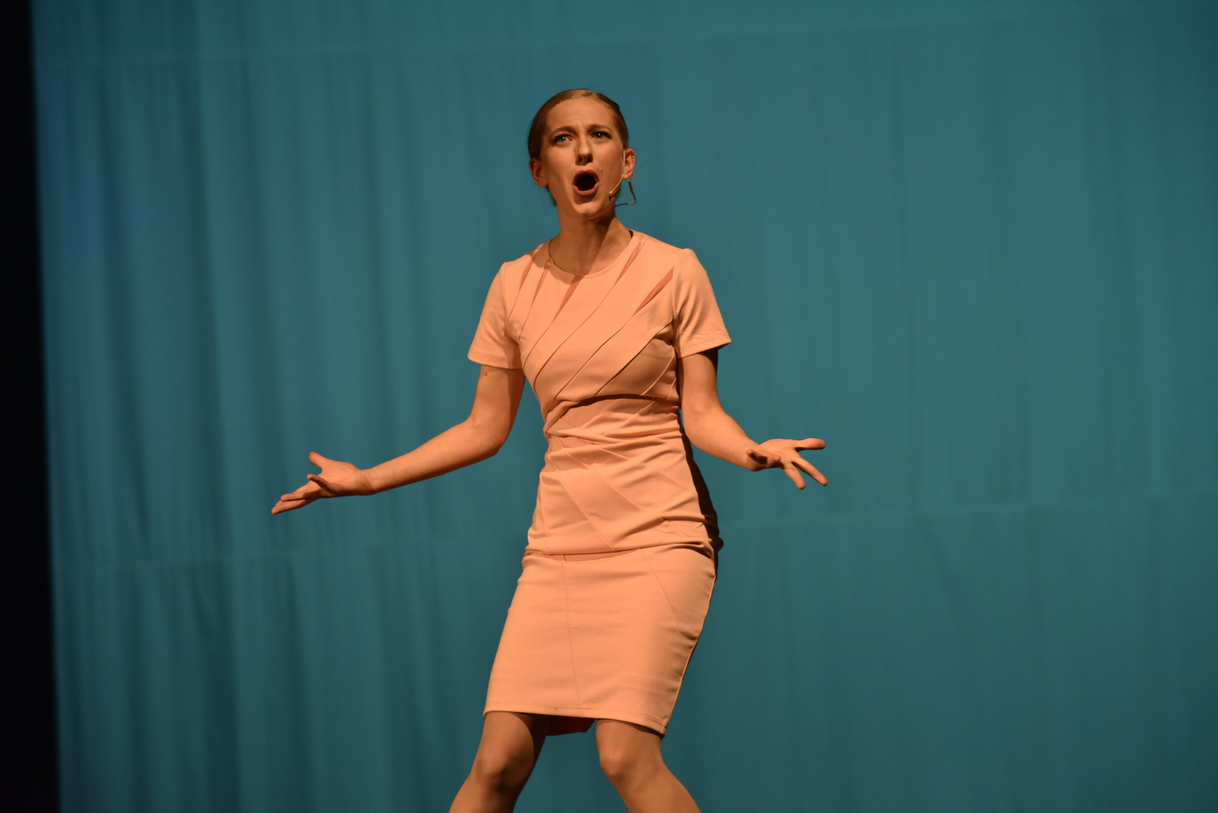 Tana Sirois as Ivanka Trump in Broad Comedy sketch