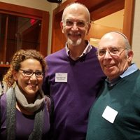 Rabbi Gordon Fuller with past executive directors, Dr. Lauren Strauss and Martin Goldman