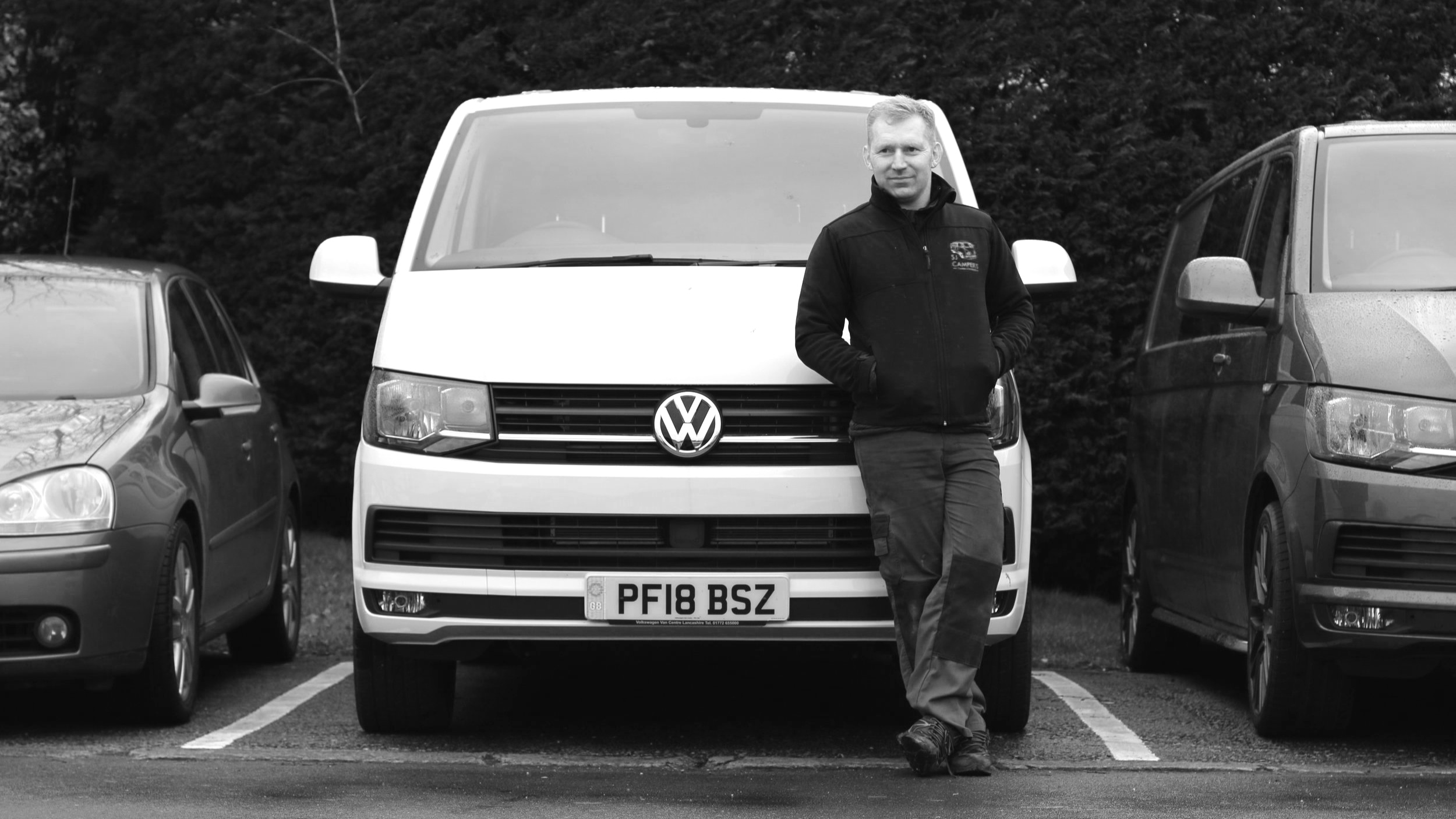 Stuart - Stu started SJ Campers in 2010, after 10 years working as workshop manager at Mitsubishi. From doing conversions and mechanics by himself, SJ Campers has gone from strength to strength, and now employs 8 members of staff.