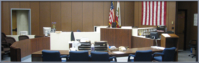 A typical courtroom in Alameda County