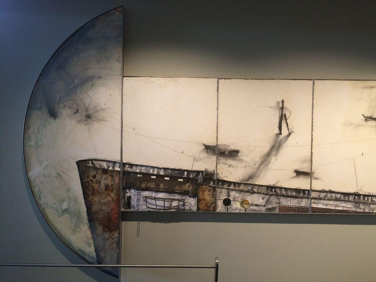 Detail, La Rayuela (Emigrar 2000), 2001, Gustavo Lopez Armentia