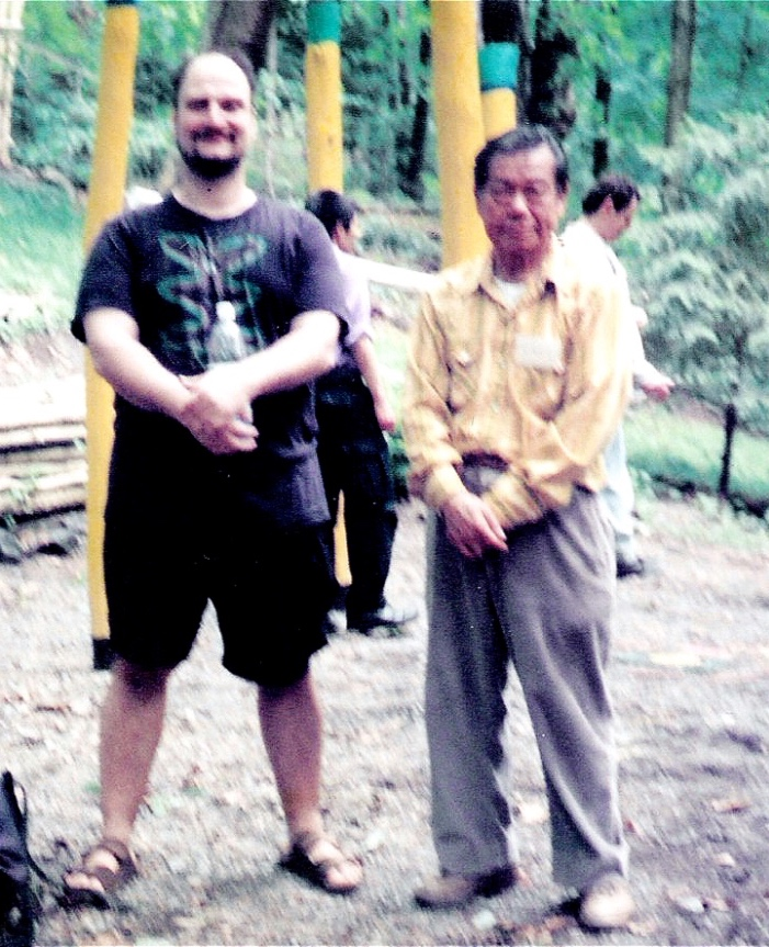Masters Bruce Frantzis and B.P. Chan at the Tai Chi Farm, early 1990's..