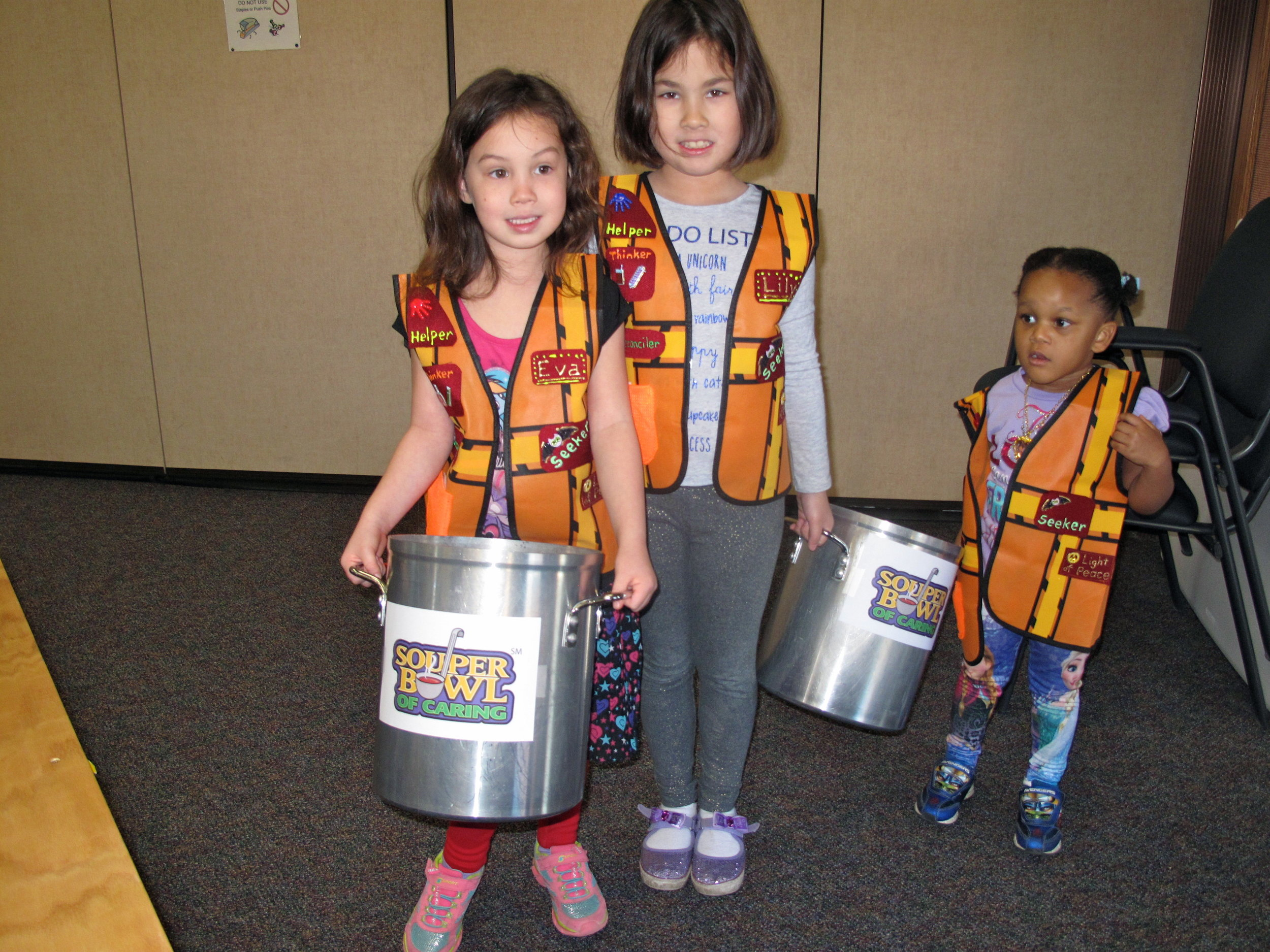 Eva and Lily Weleck and Zoey for Souper Bowl.JPG