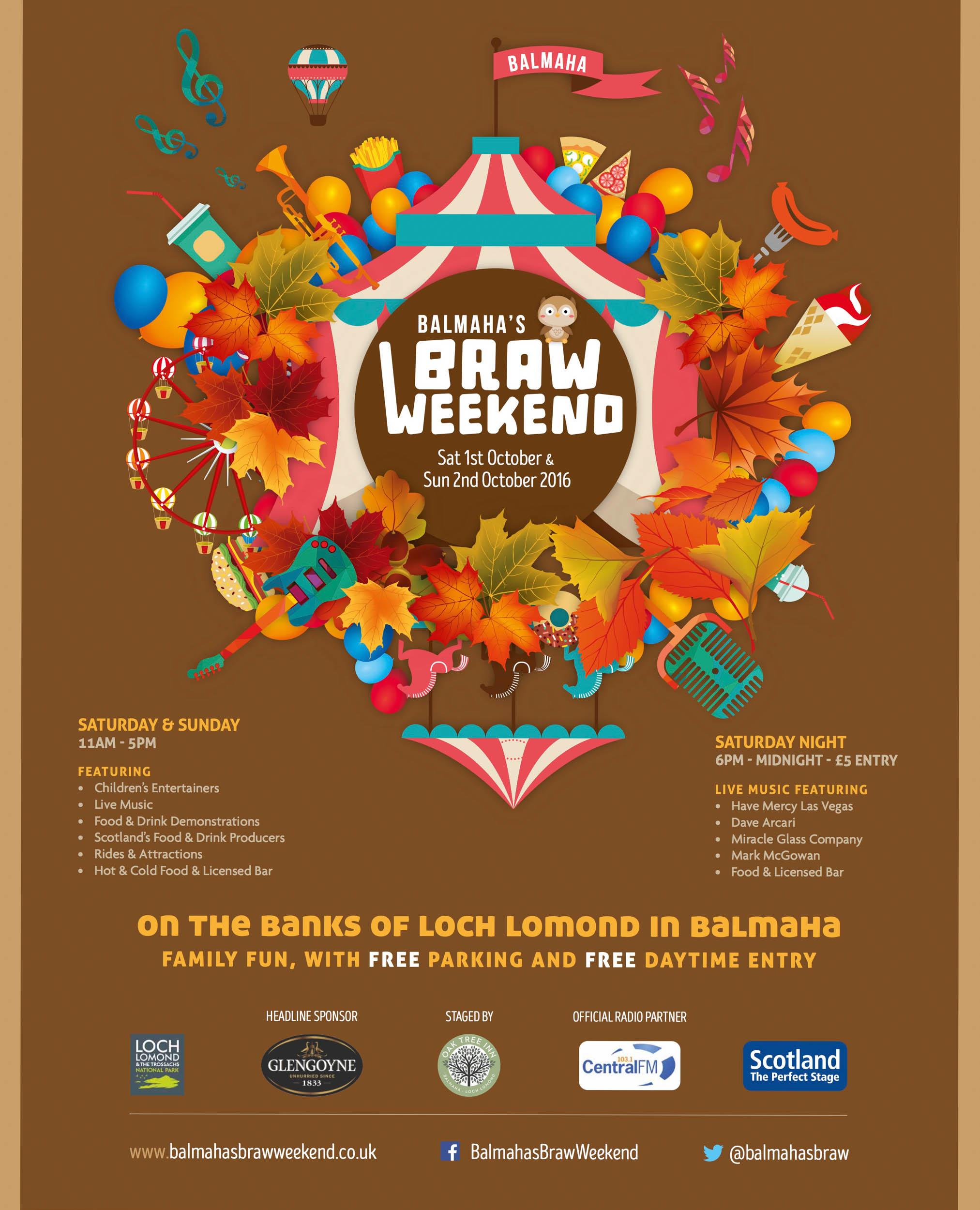 Balmaha's Braw Weekend Festival Poster