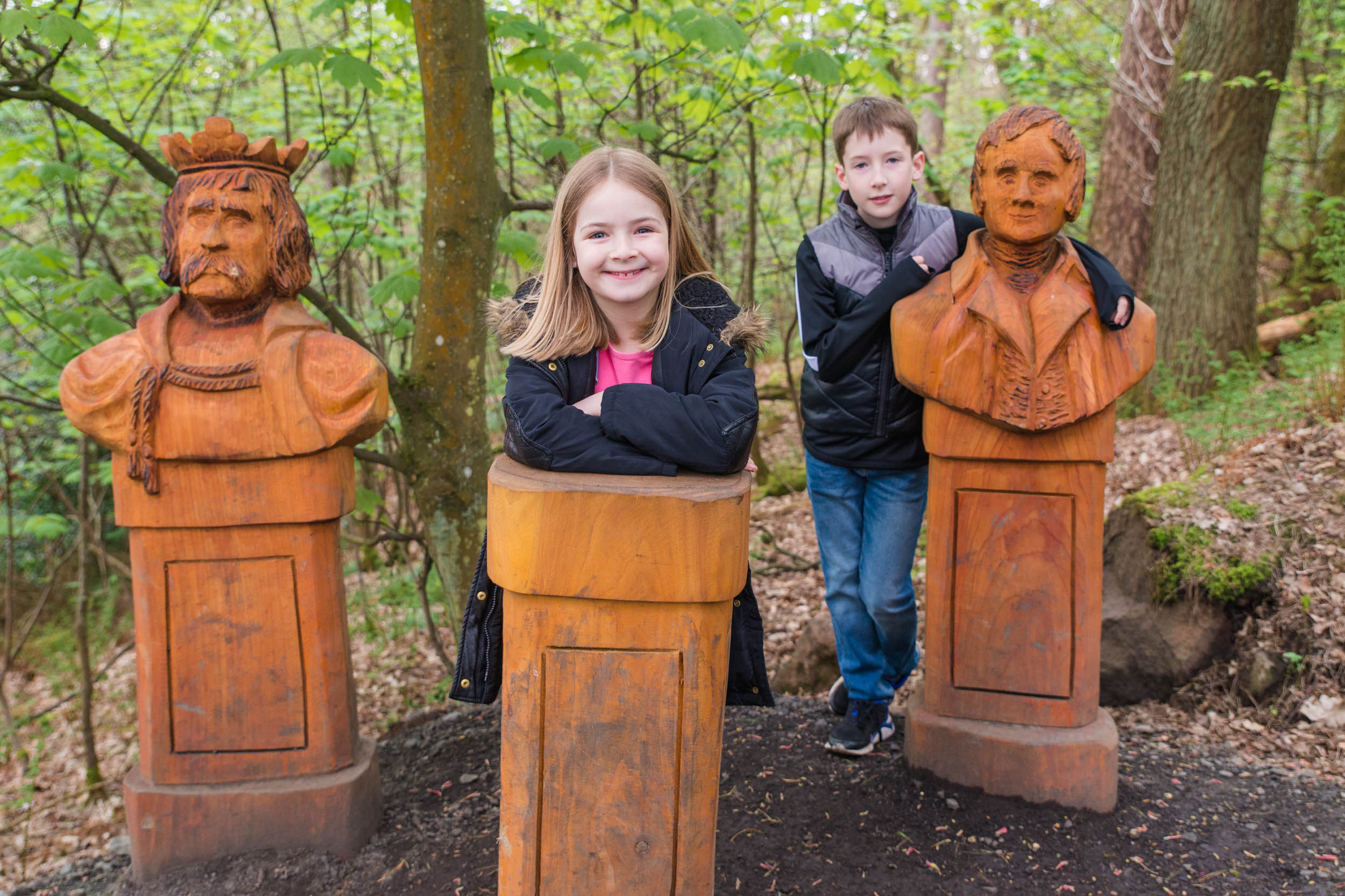 The new wood carving trail