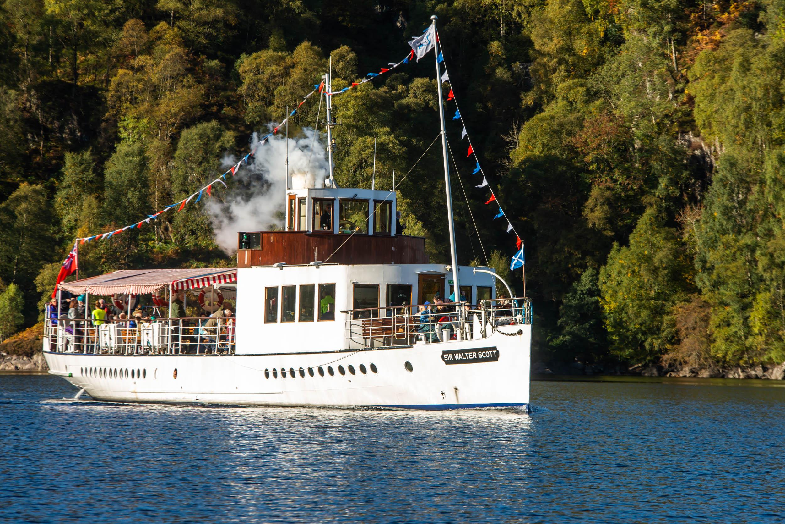 Marketing Support for Loch Katrine and Sir Walter Scott Steamship.