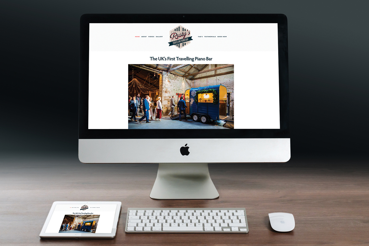 A website that we created for Rusty's Travelling Piano Bar