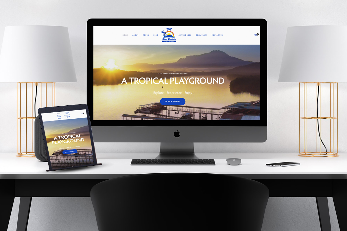 Our website, developed for Blue Kinabalu Travel, Malaysia