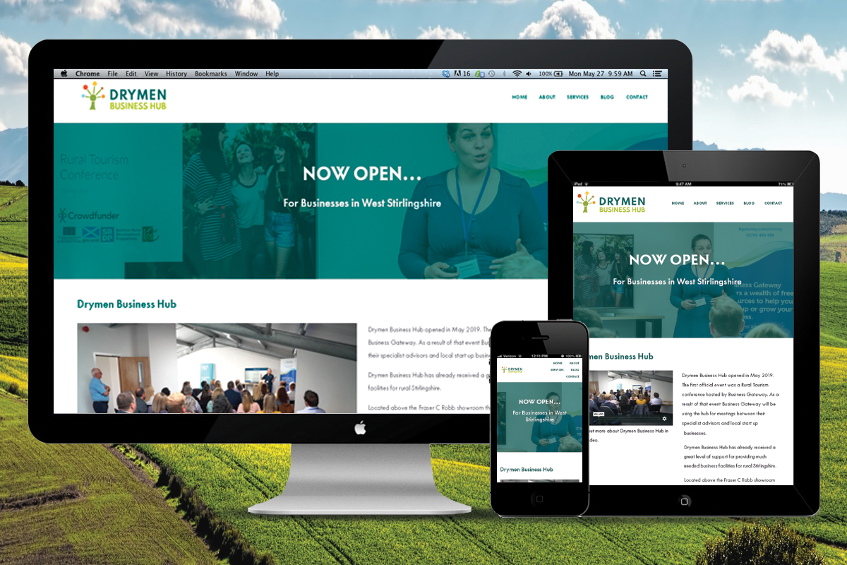 A website that we created for Drymen Business Hub