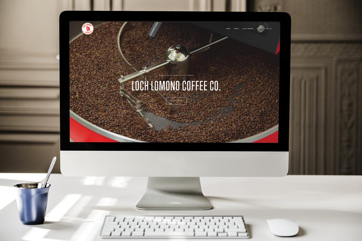 A website we developed for Loch Lomond Coffee Co.