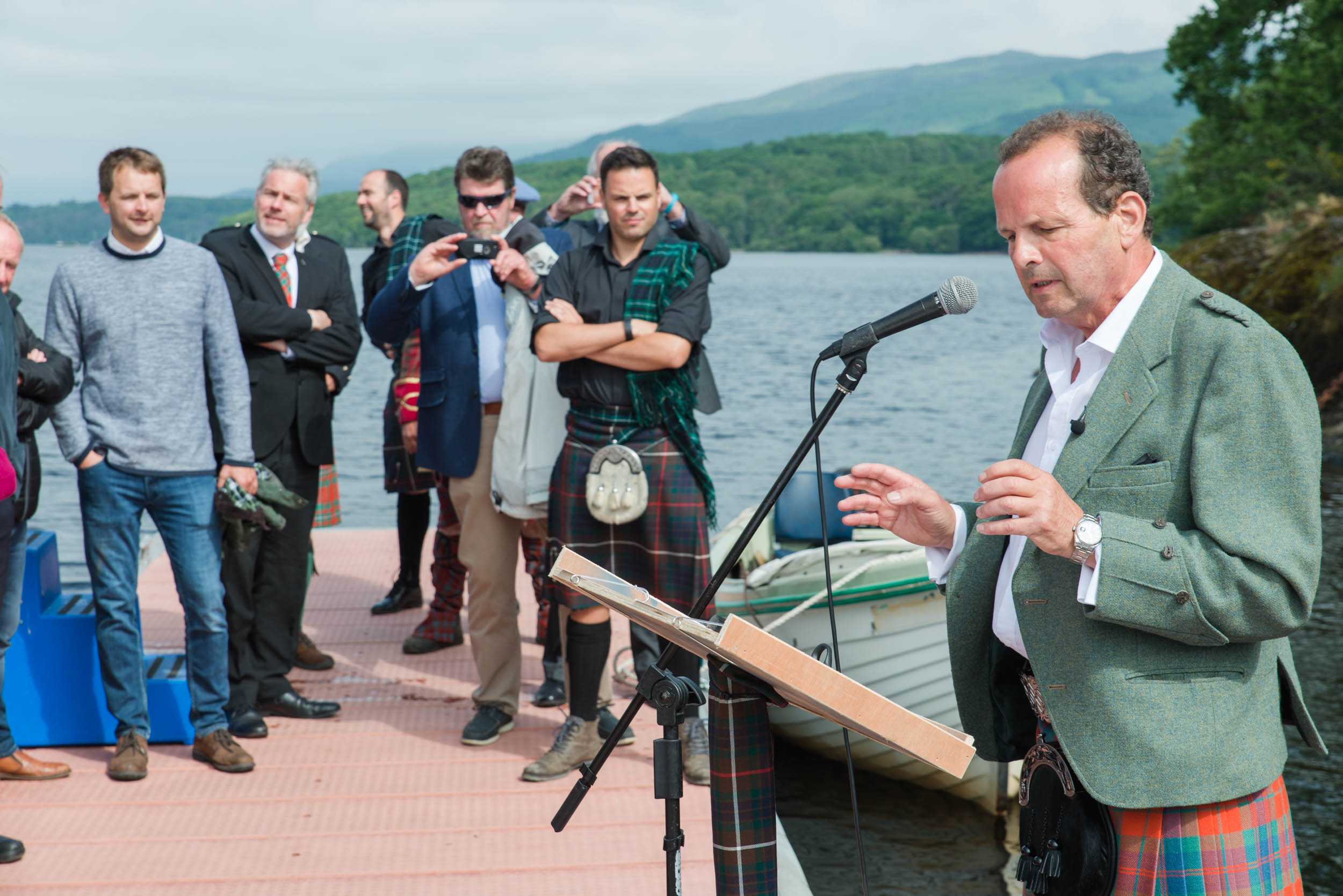 Sandy Fraser at Balmaha Pontoon opening.