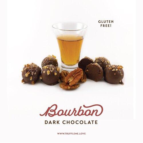 Bourbon Dark Chocolate Truffles - Gluten Free