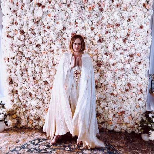 adele flower wall - featured on Vogue, vanity fair, people, martha stewart