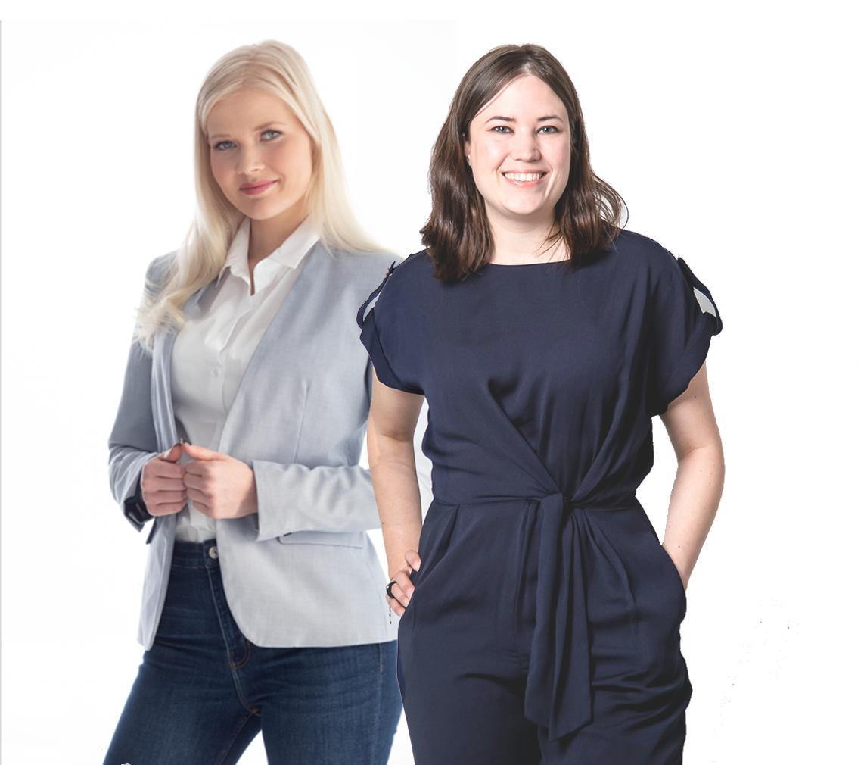 Liike Nytin perustajajäsenet Karoliina Kähönen ja Helene Auramo
