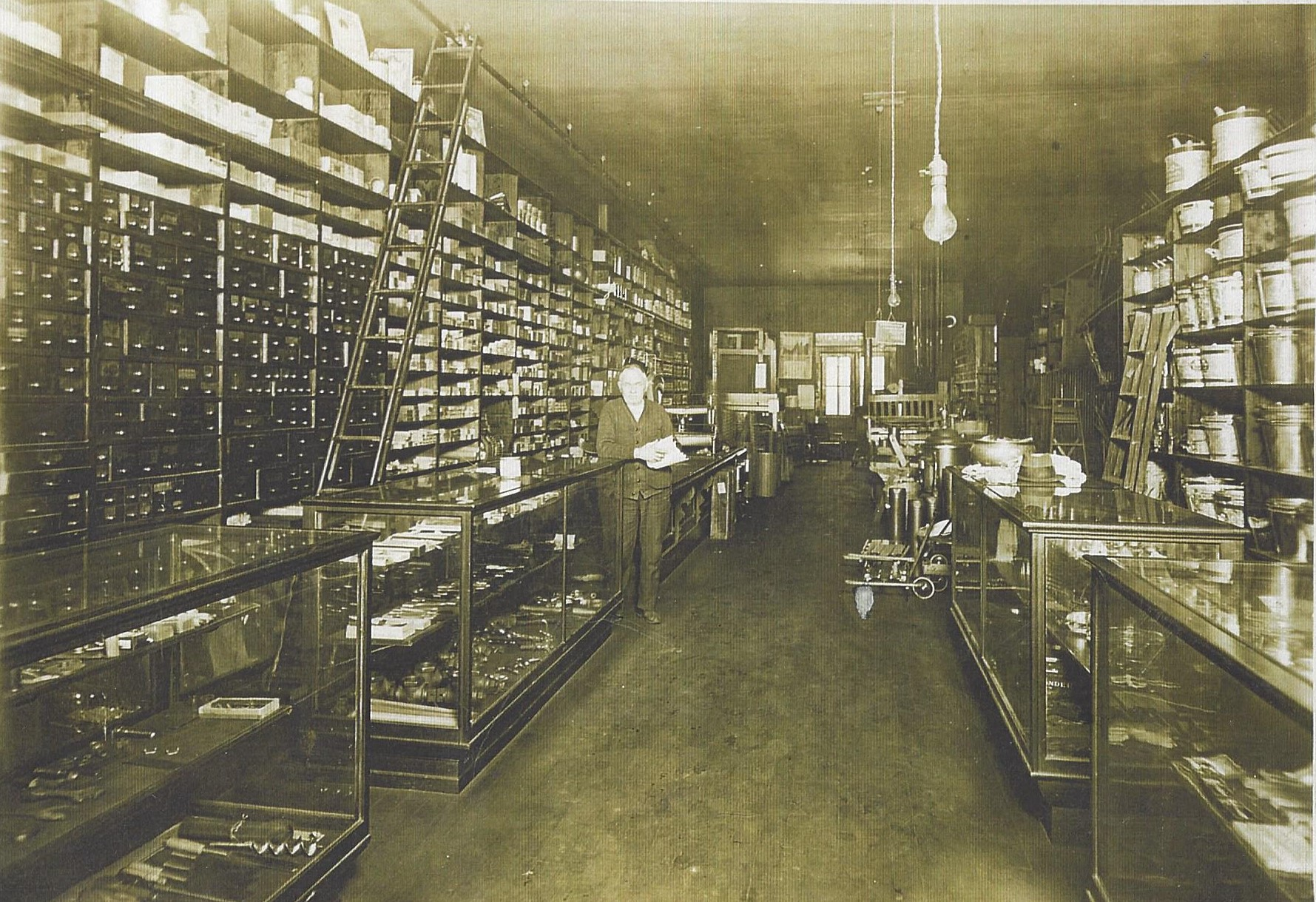 1930 - Inside the hardware store in Fort Recovery, Ohio