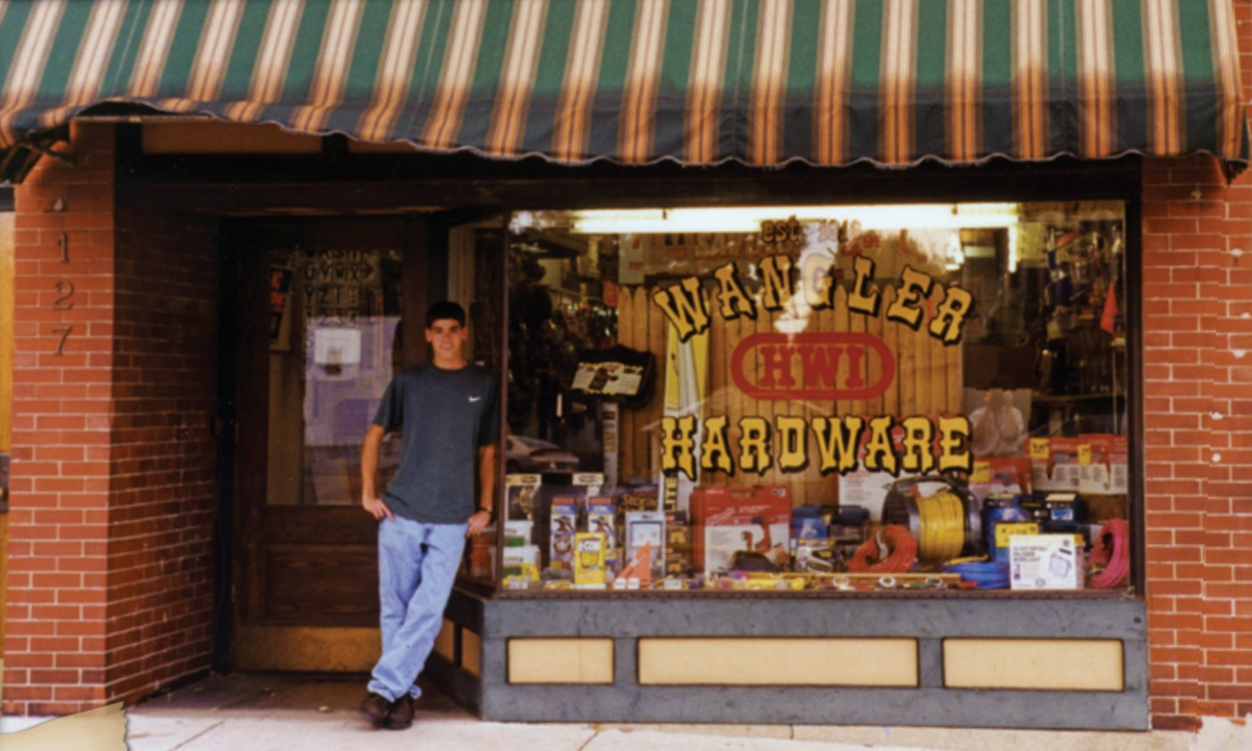 1997 - Location at 127 N Wayne Street. This photo shows a 16-year- old Matt Minor, son of Mike & PJ (Wangler) Minor, who will go on to take over the business.