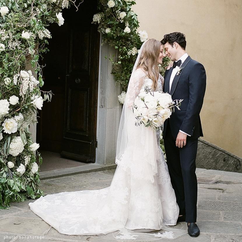 Allison and Andrew | Gown Designer: Monique Lhuillier