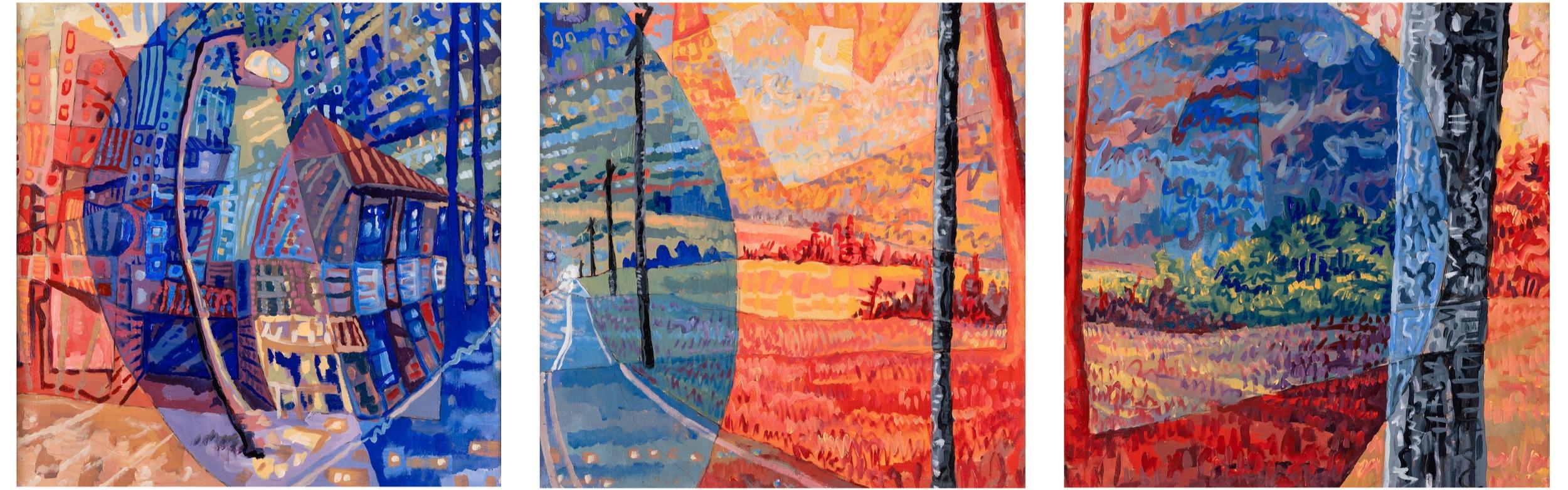 Charlie Hudson, Push and Pull, Acrylic on Panel, 24 x 24 each, 5,000.jpg