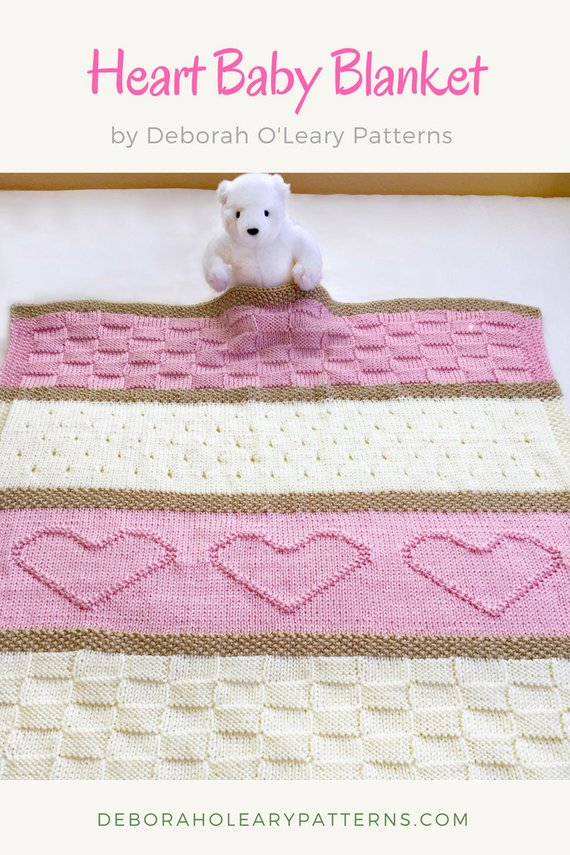 Blanket pattern with harts