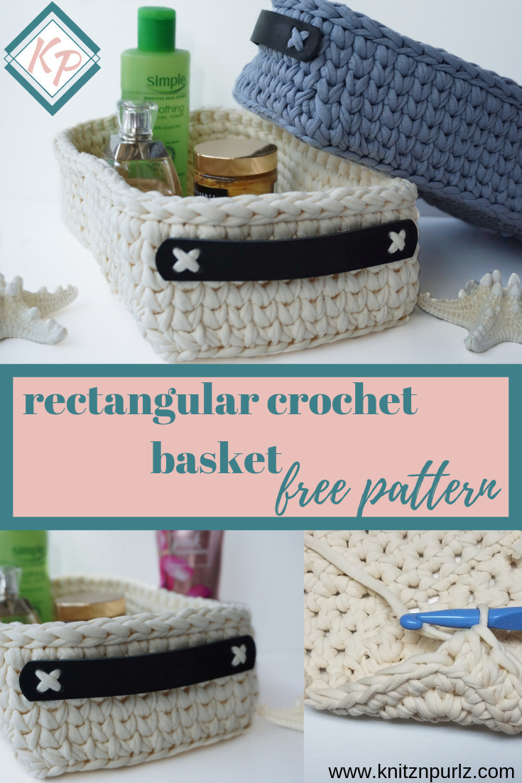 rectangular crochet basket free pattern