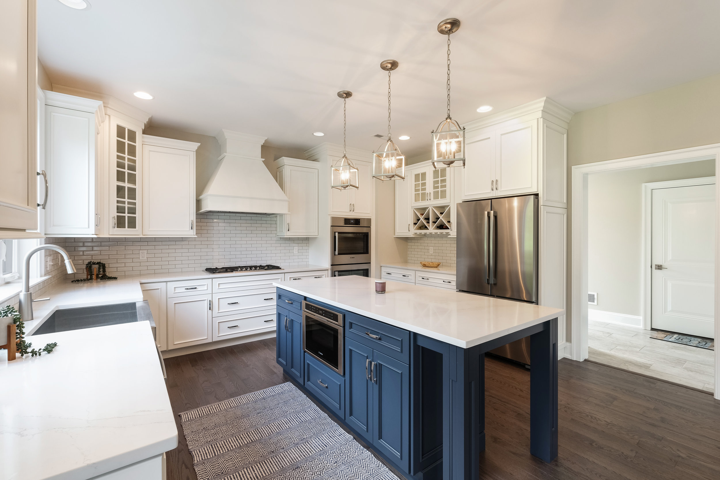 Gourmet Kitchen with Large Island & Top of the Line Appliances