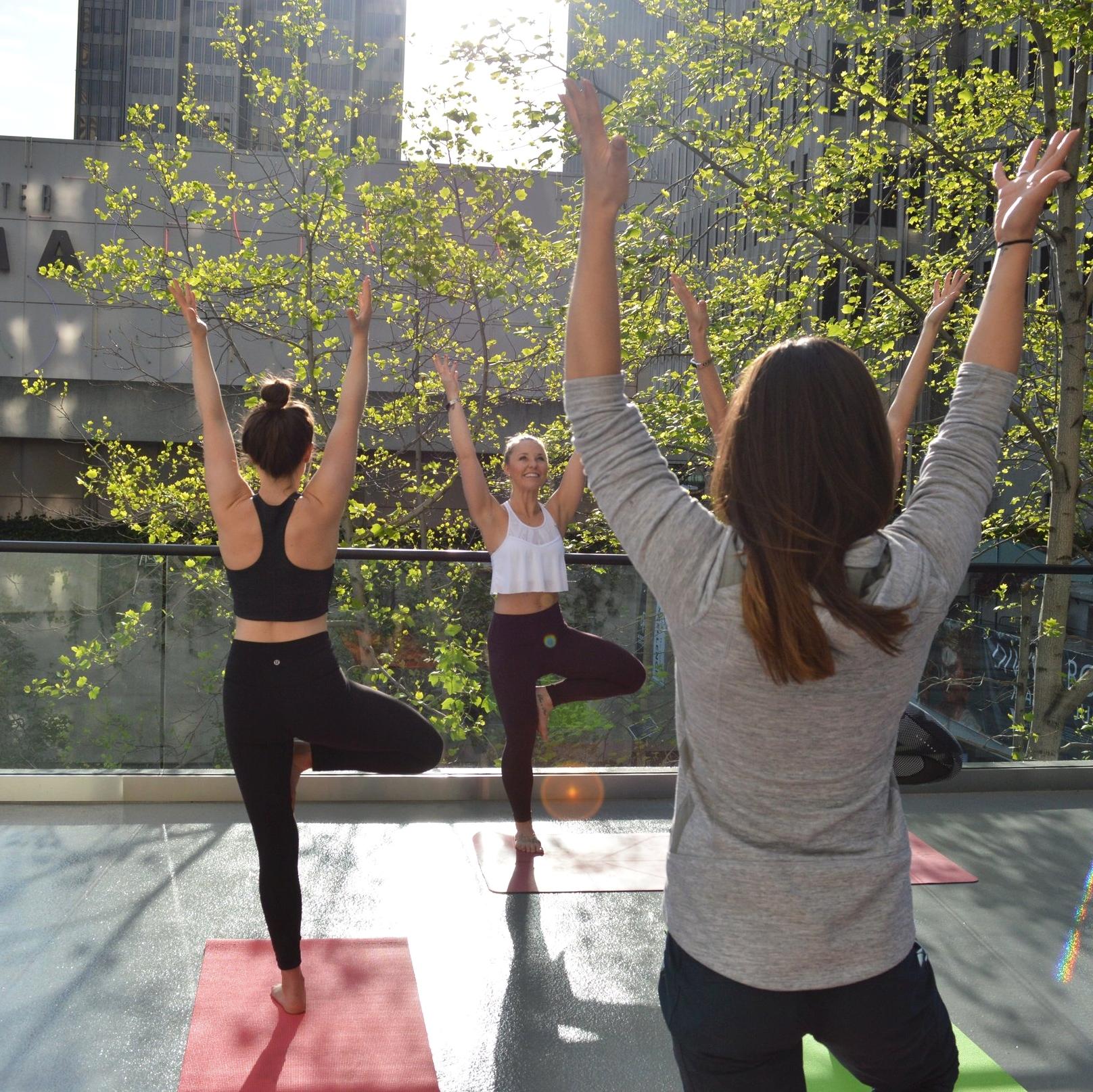Morning Rooftop Yoga | Le Meridien Hotel, San Francisco