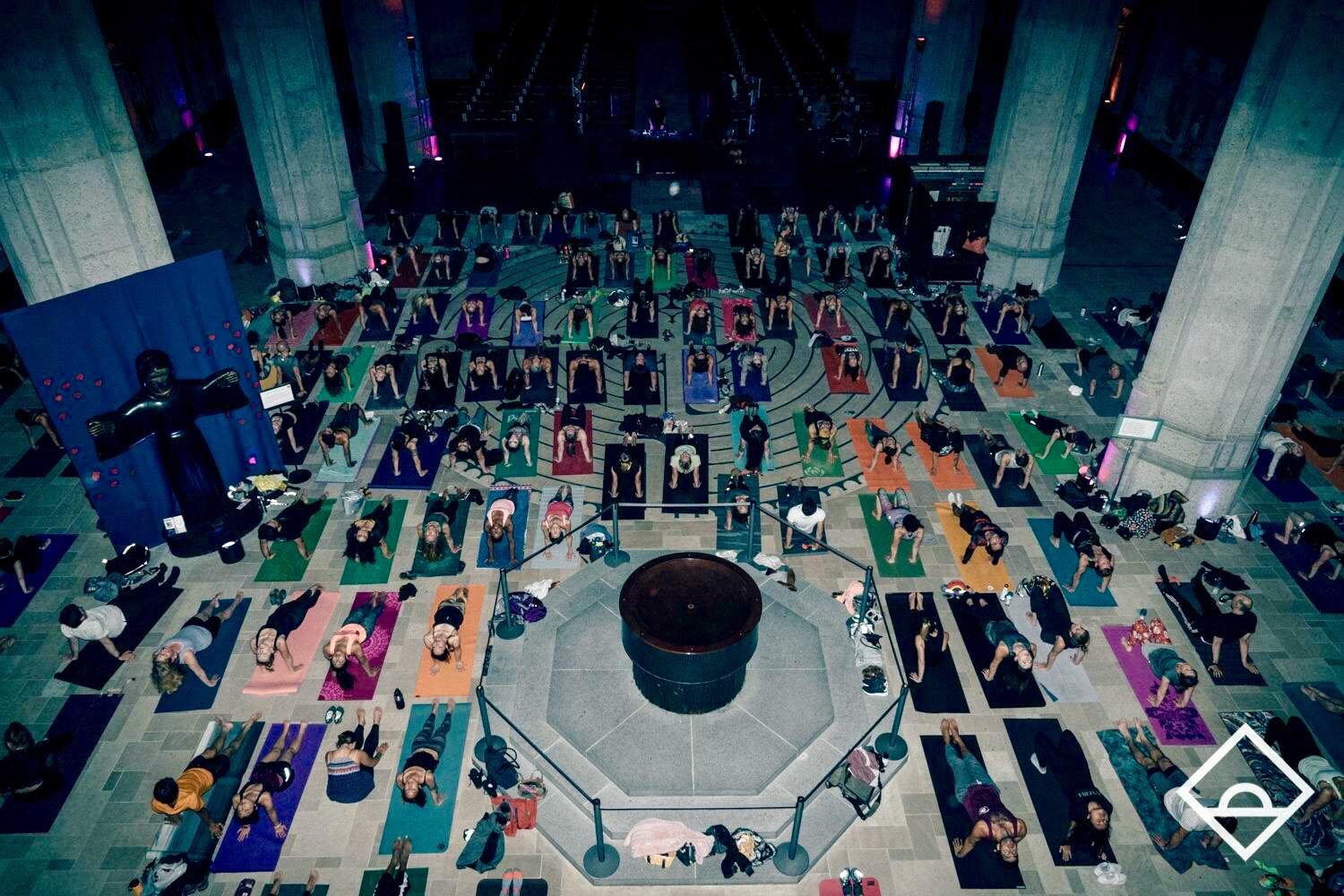 Paige teaching at Grace Cathedral DUSK by Daybreaker | November 2017