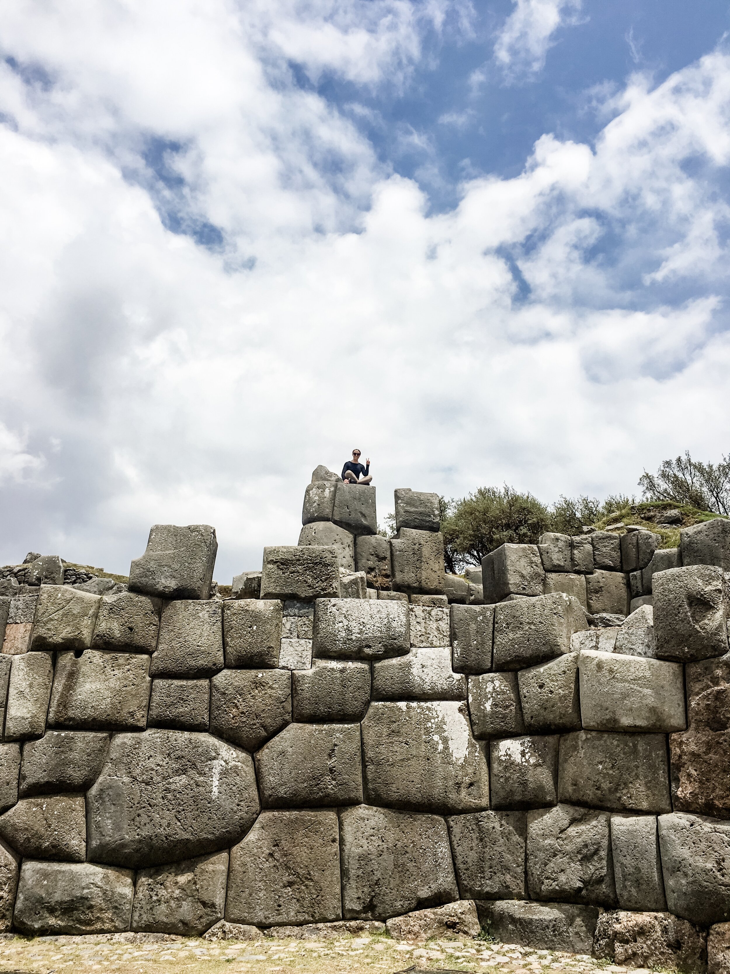Saqsaywaman Ruins: Paige for Scale