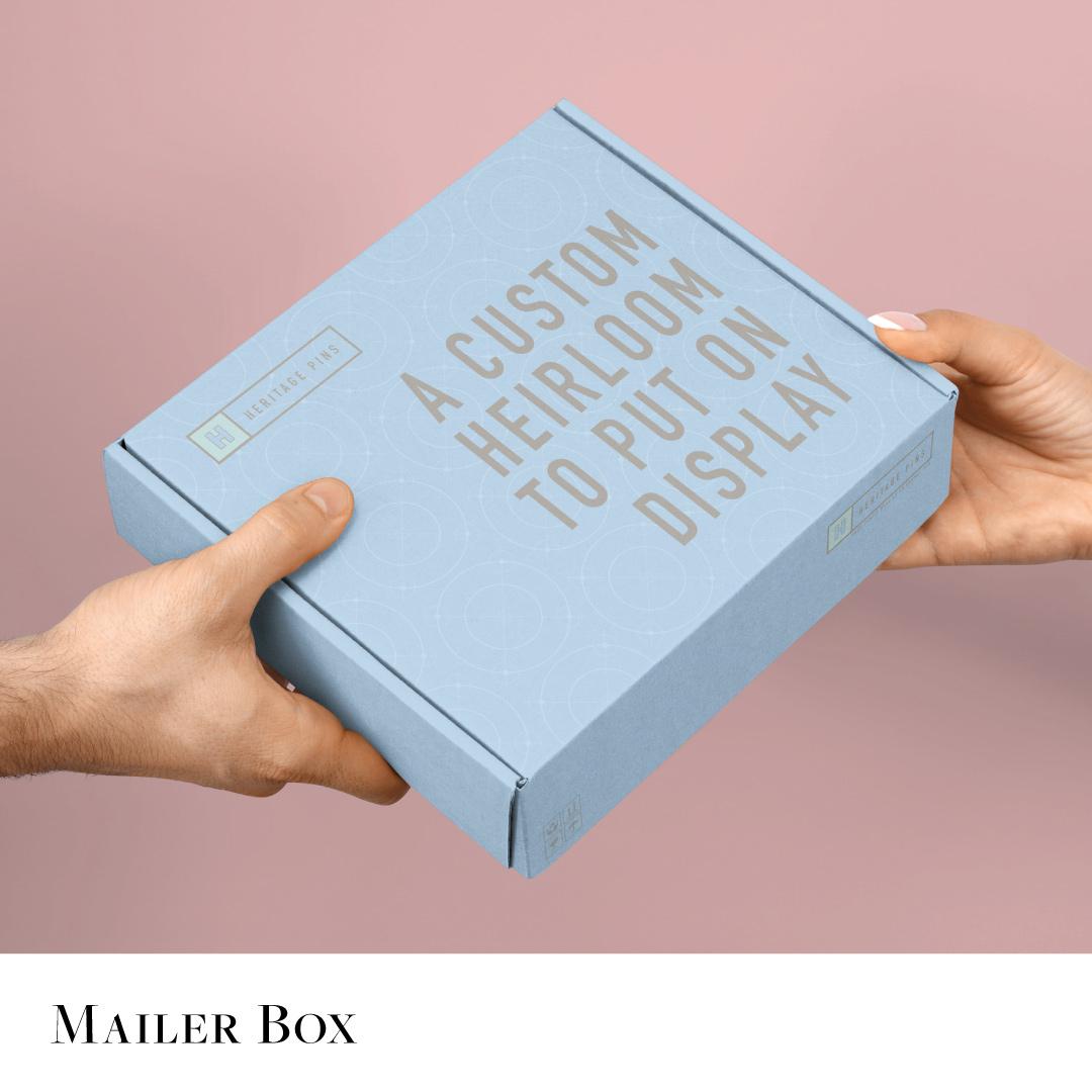 Custom designed mailer or shipping box