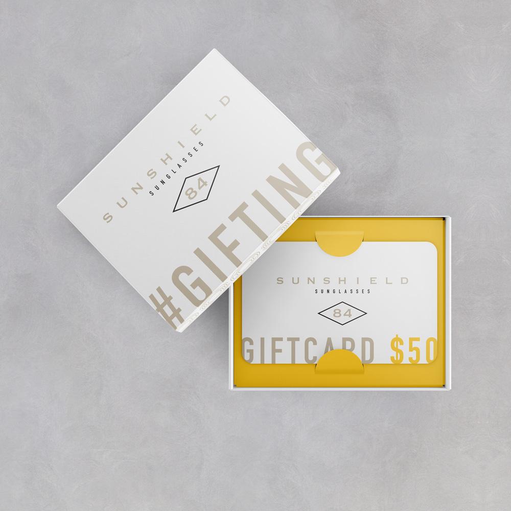 Custom designed gift card box