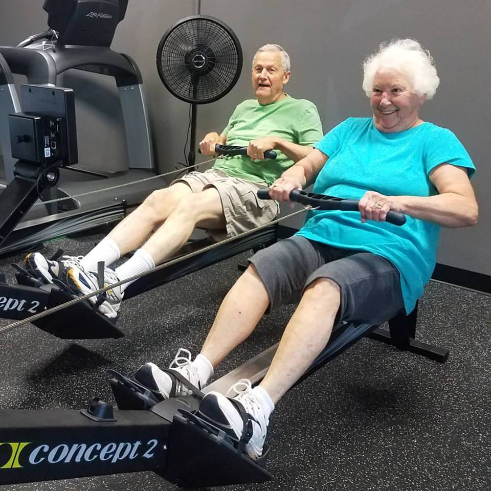 - Mary and Jimmy showing us that it's never too late to get in shape and have a great time getting there!