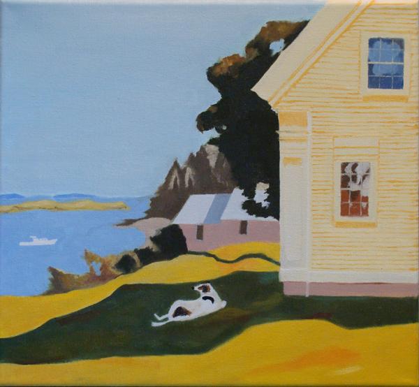 After Island Farmhouse by Fairfield Porter