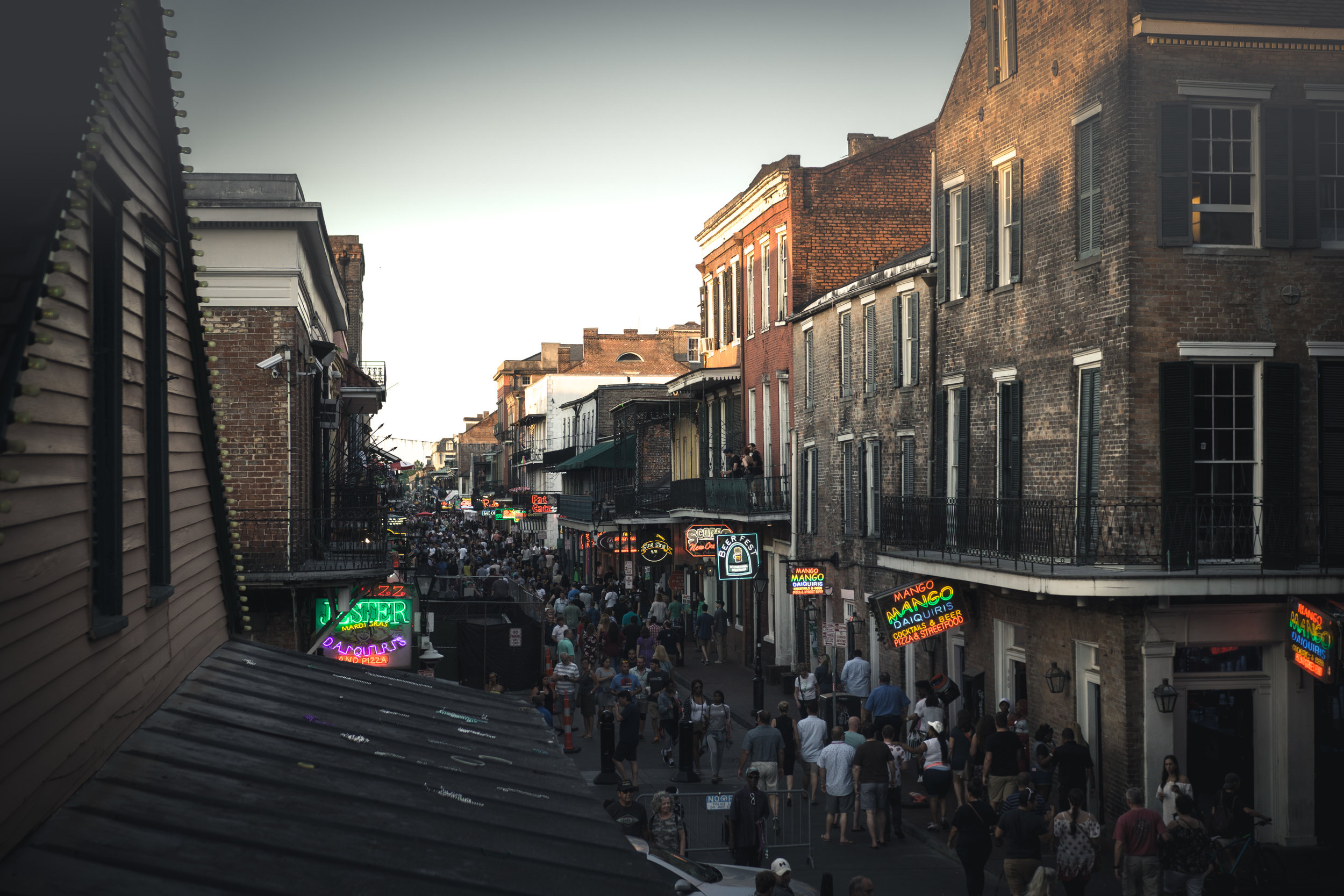Bourbon Street in the daytime…watch out.