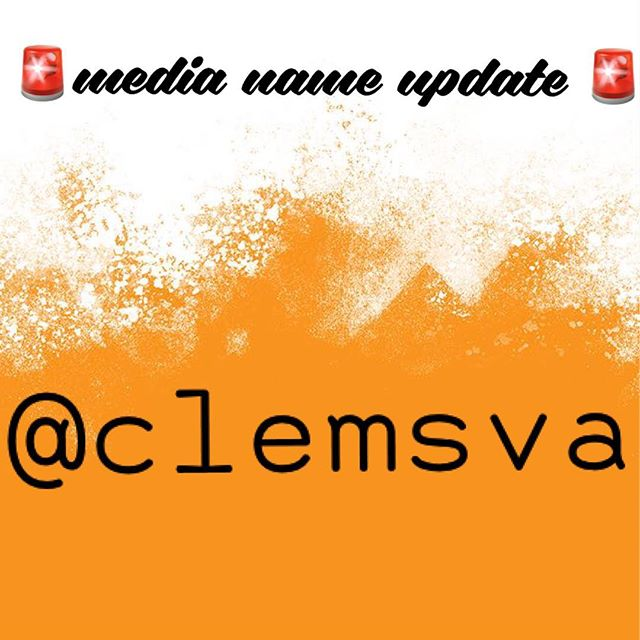 With the new Tier System in place for Student Organizations at Clemson, we have now updated all of our social media usernames! @clemsva is where you can find us across all platforms moving forward!