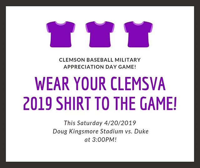 Wear your new swag! We'll CU at the game!