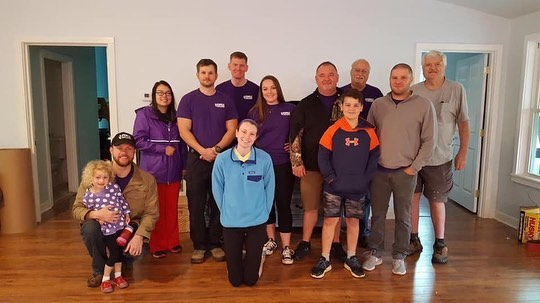 Today our advisor, members, and some individuals from Rock Springs Baptist Church volunteer with Purple Heart Homes to help a Wayne Cooper, a Vietnam Vet move into his new home!! We love opportunities to give back!