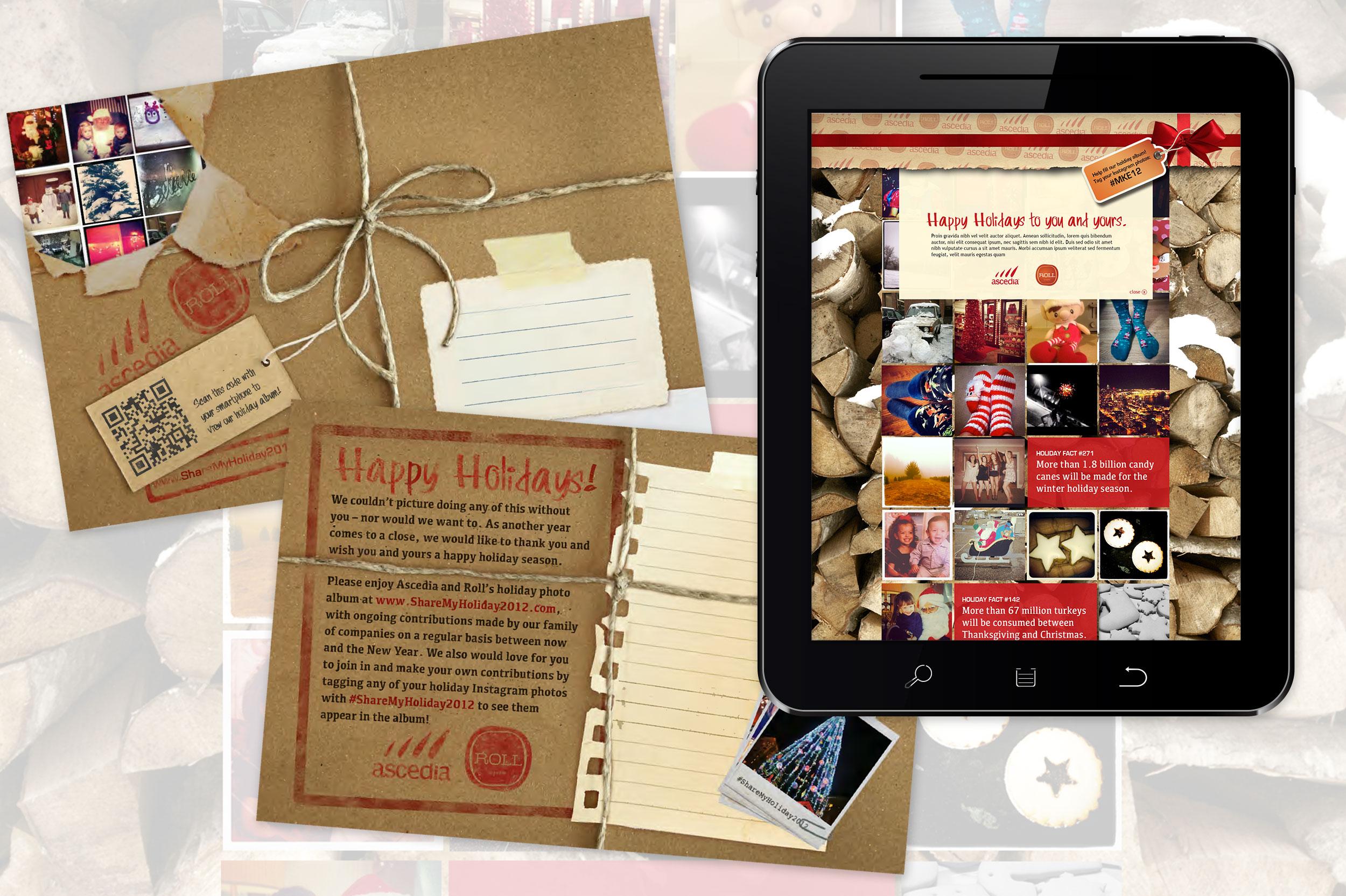 Ascedia Holiday Postcard and Microsite (2012)