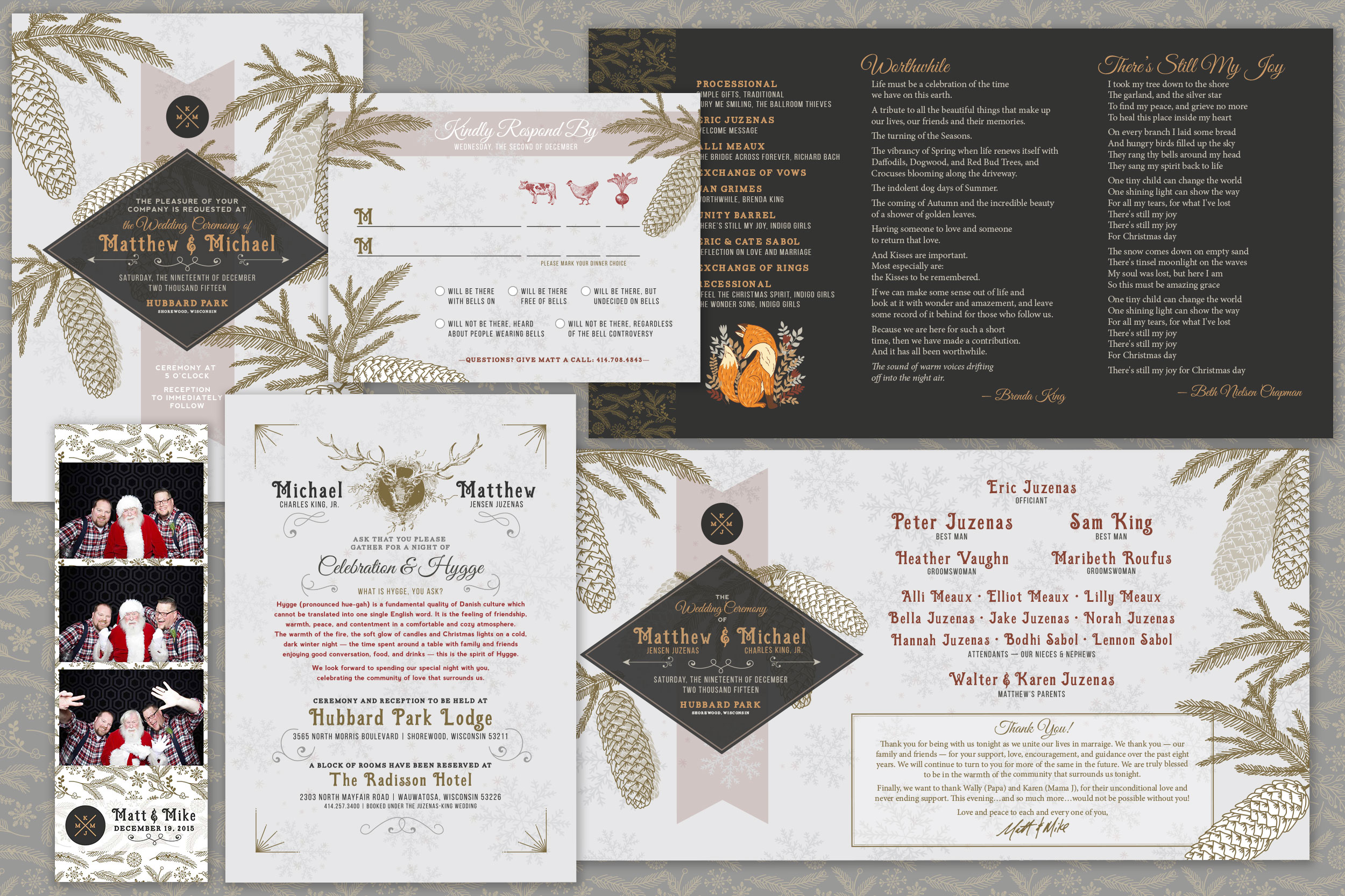 Wedding Invitation and Program (2015)