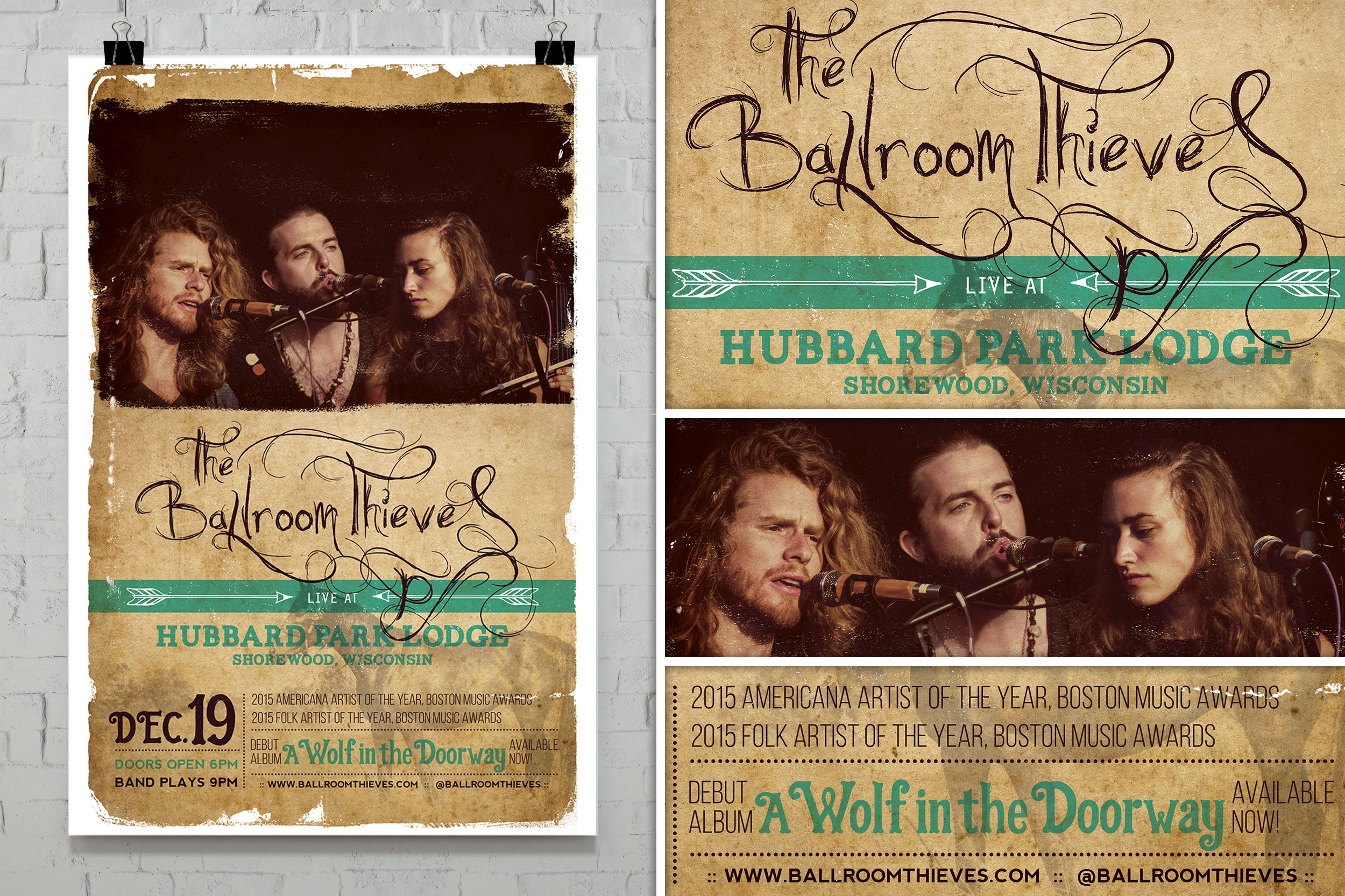Ballroom Thieves Concert Poster (2015)
