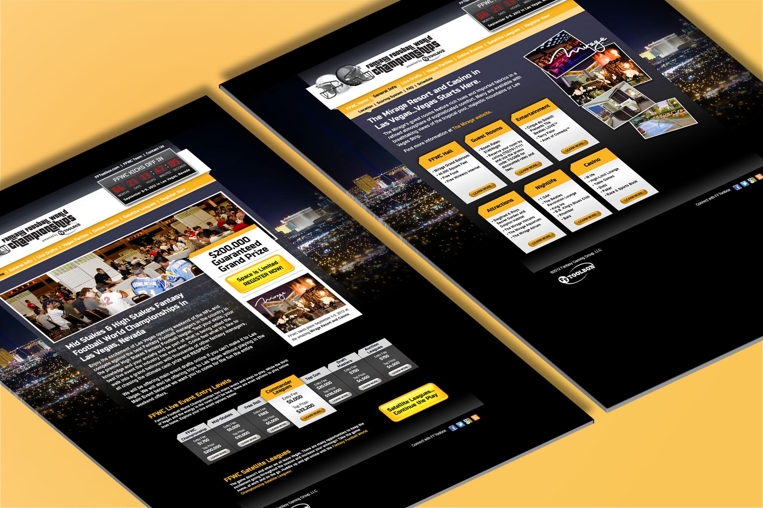 Fantasy Football World Championships Microsite & Branding (2012)