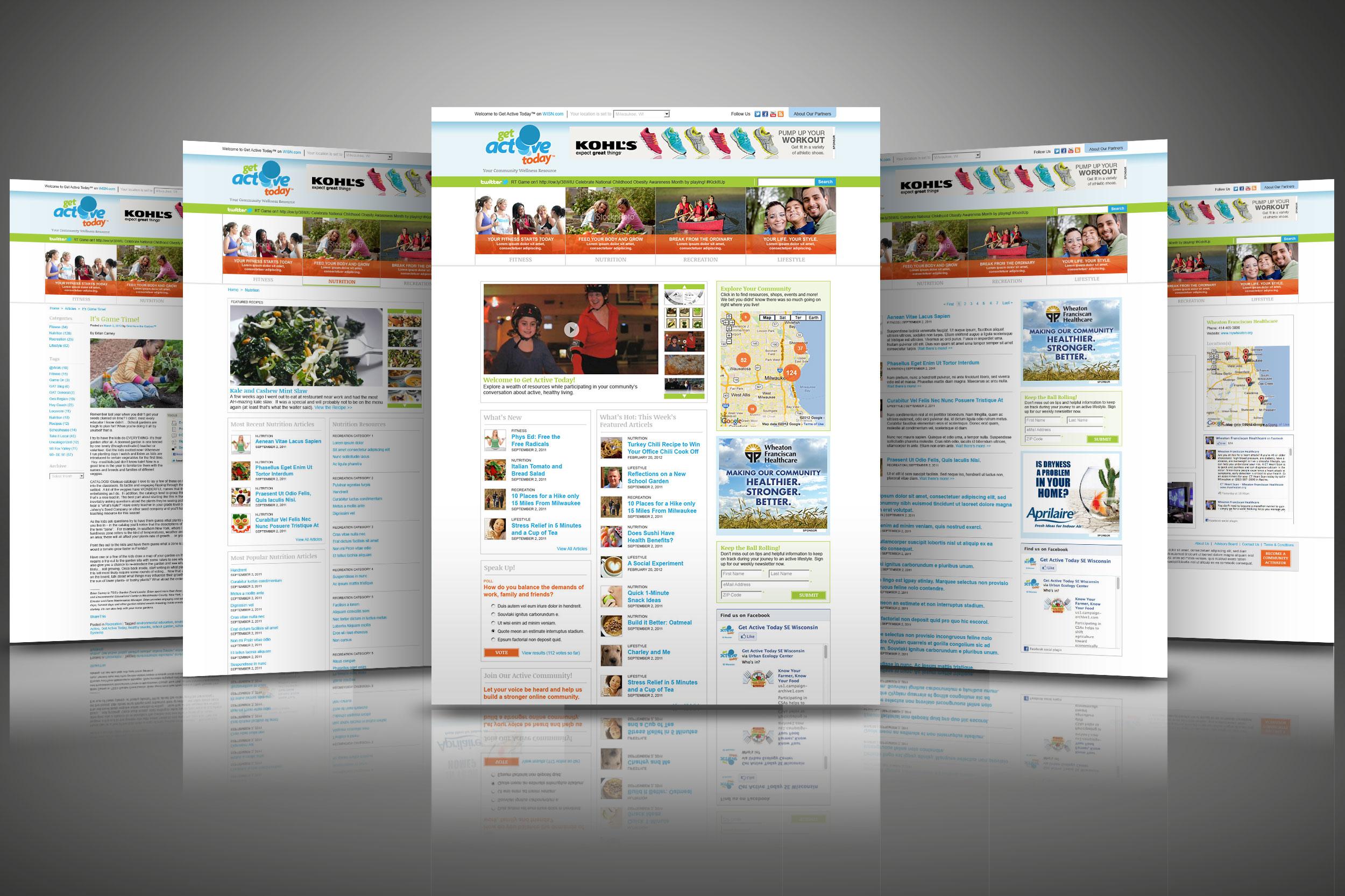 Get Active Today Website Redesign (2013)