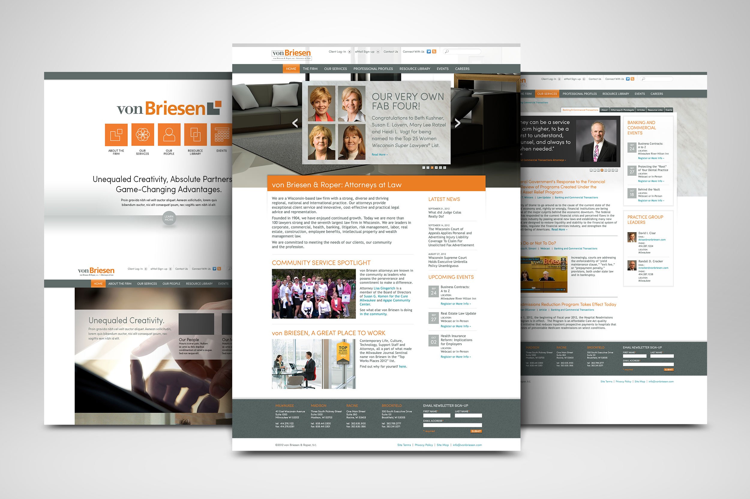 von Briesen & Roper Website Redesign (2012)