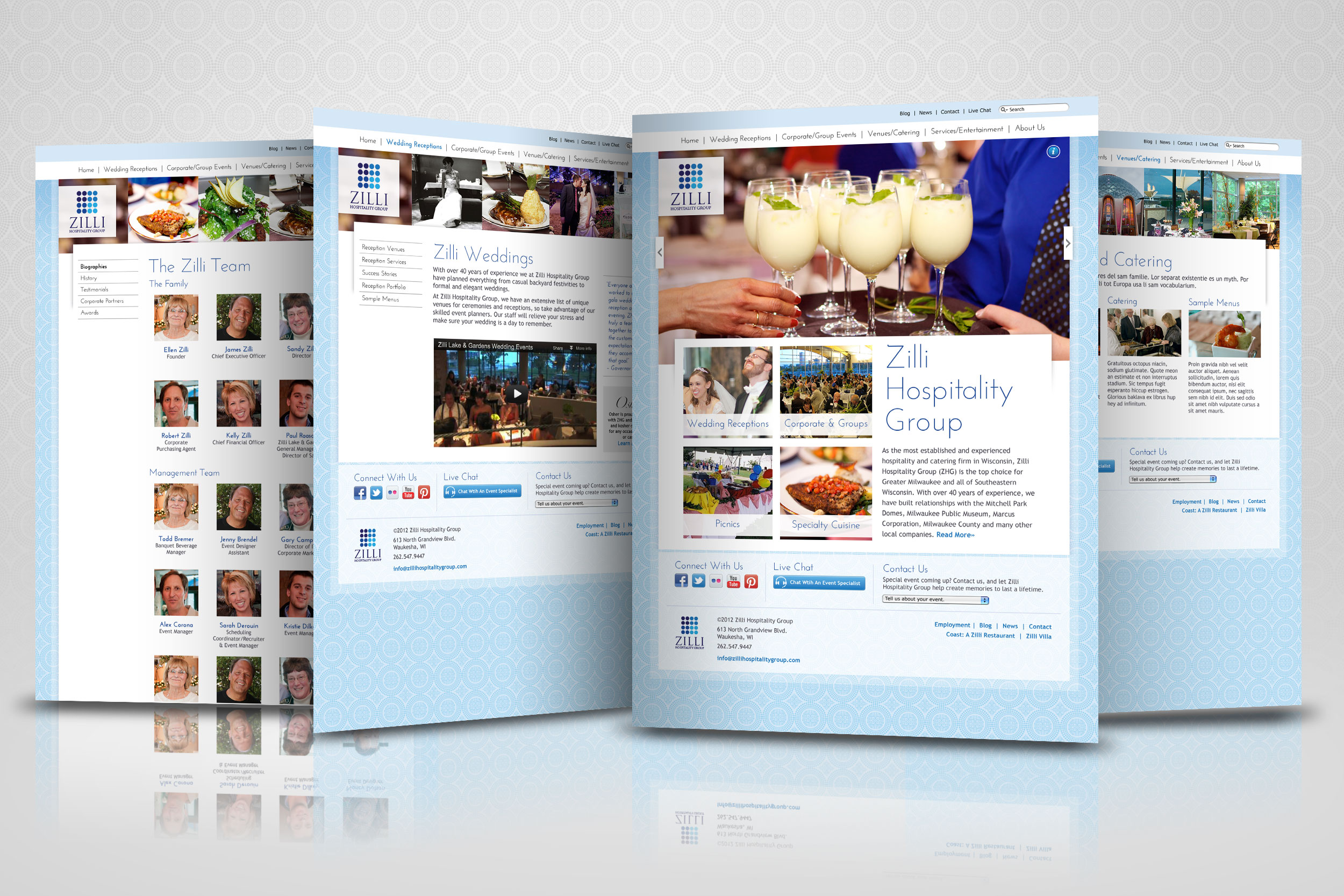 Zilli Hospitality Group Website (2012)