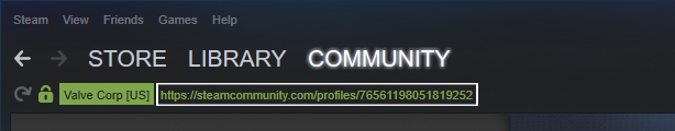 Standard Profile URL : Go to your steam profile via the  steam client  and pull the URL. This number  should  be your Steam64. Do not obtain your steamURL via any other means (web browser, etc.) Take that number and verify it  here .