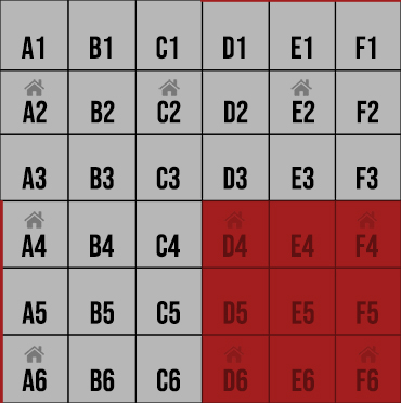 Grey grids are public. Red grids are WHITELIST.