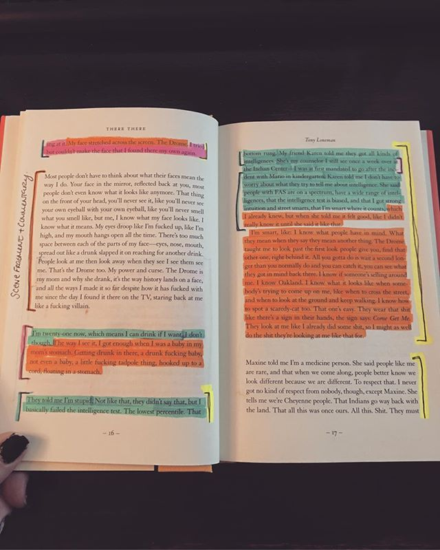 Nerd alert! Sneak peek at how I analyze structure 🤓🤓 This is from the first chapter of There There by Tommy Orange. A devastating first chapter. I have only read the first 30 pages and I can already say that EVERYONE should read this book.