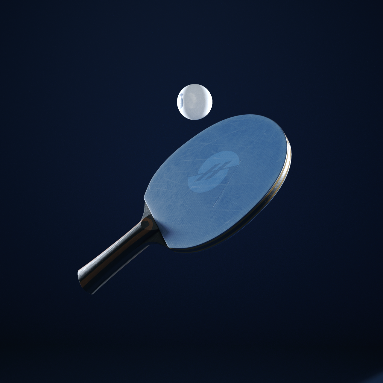 Free cinema 4d file ping pong paddle