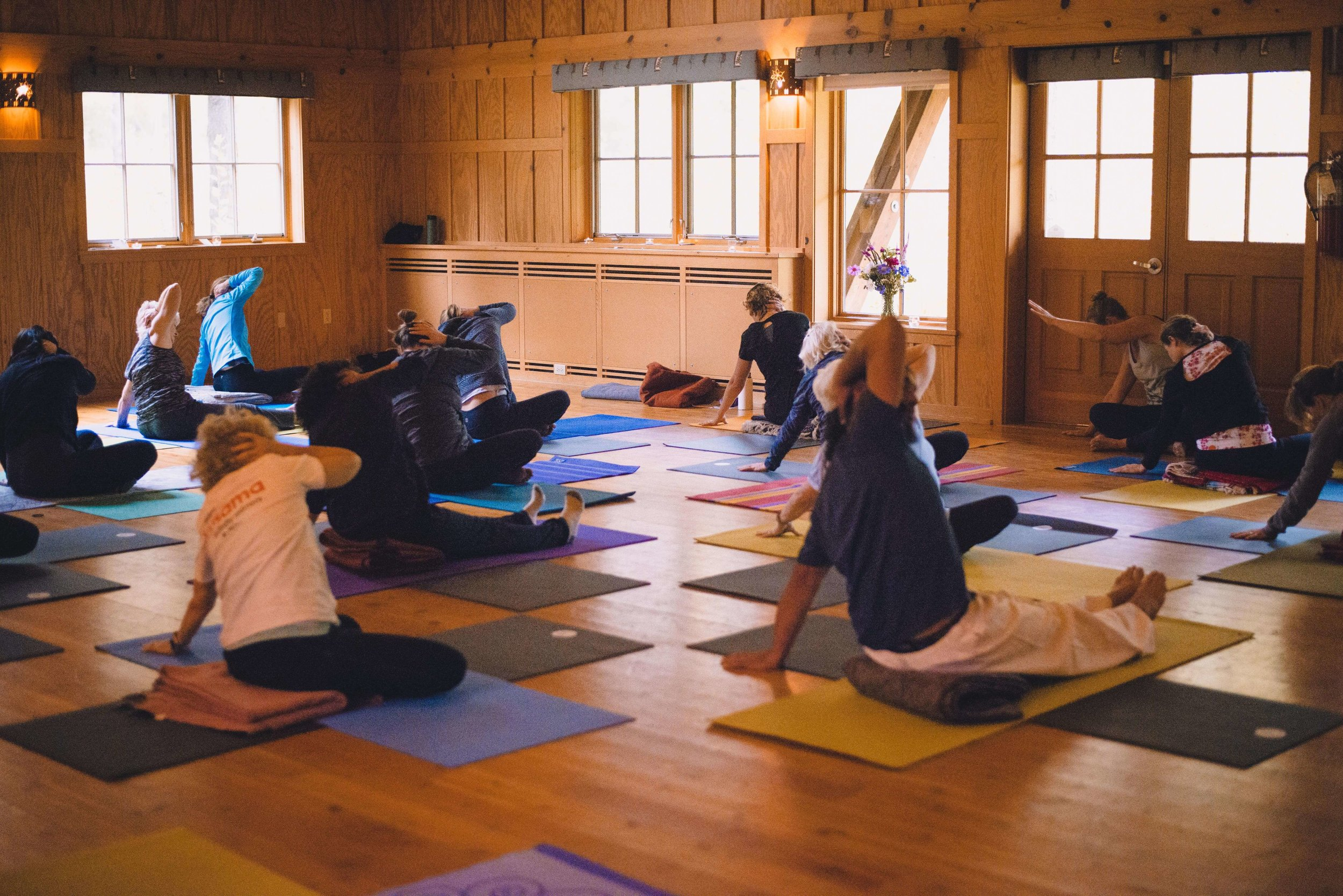 yoga workshops at the Sleeping Lady
