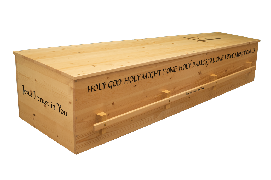- Divine Mercy Pine$2450(click on image for interior view of casket)