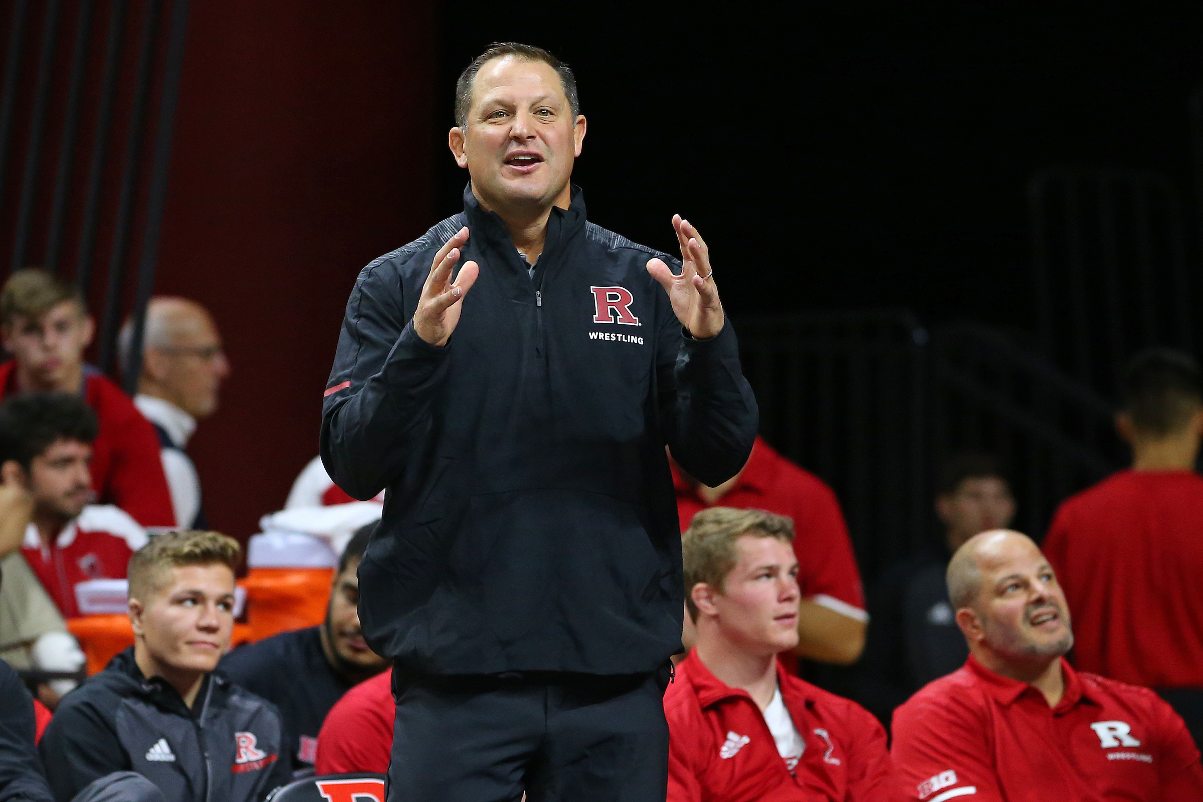 Scott Goodale - Since taking over the program on July 31, 2007, head coach Scott Goodale has made Rutgers wrestling into one of the most relevant teams in the country. With the help of associate head coach Donny Pritzlaff, assistant coach John Leonardis and director of operations Joe Pollard, the Scarlet Knights have produced eight All-Americans in the past five seasons, and since 2009, have earned two top-10 finishes and seven top-25 finishes in the USA Today/ NWCA Division I Coaches Poll.